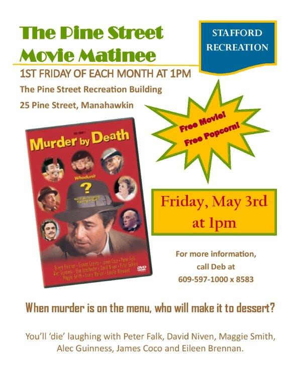 Pine Street Movie Matinee Flyer May